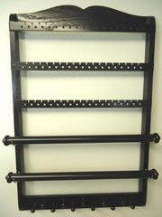 Double Bangle Jewelry Holder Organizer Ebony Black Oak