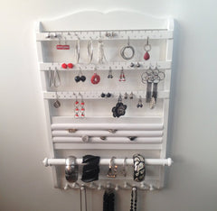 White Deluxe Jewelry Organizer front