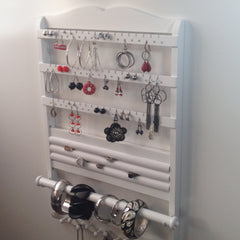 White Deluxe Jewelry Organizer side