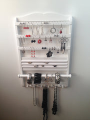 White Deluxe Jewelry Organizer front full