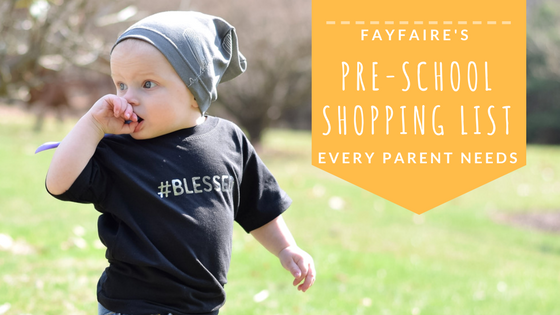 First day of school shopping list that every pre-school parent needs!