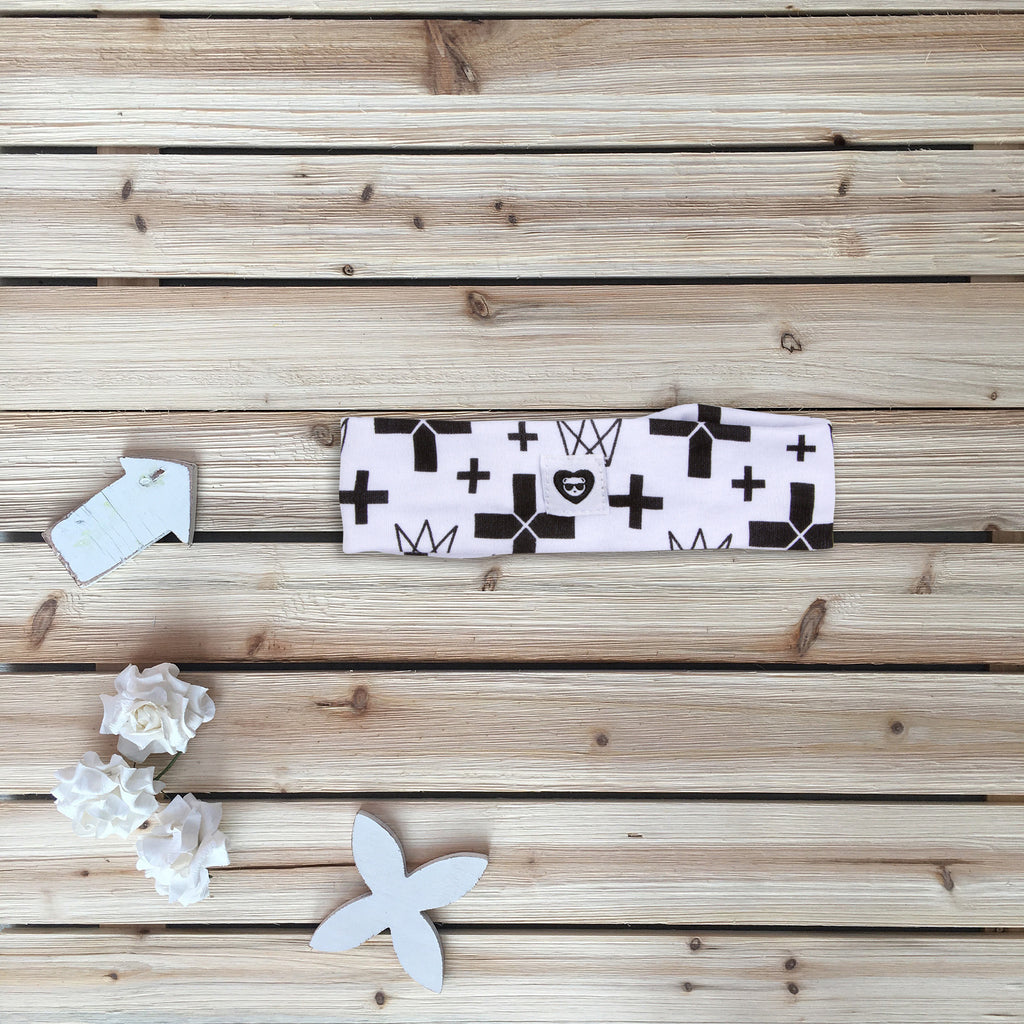 Cross Printed Headband for Babies