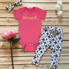 Blessed Pink Onesie & Cross Outfit with Headband