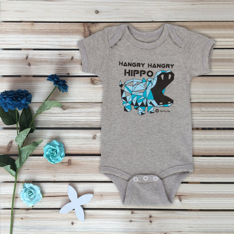 """#Blessed"" Baby Bodysuit, Purple & Silver Foil"