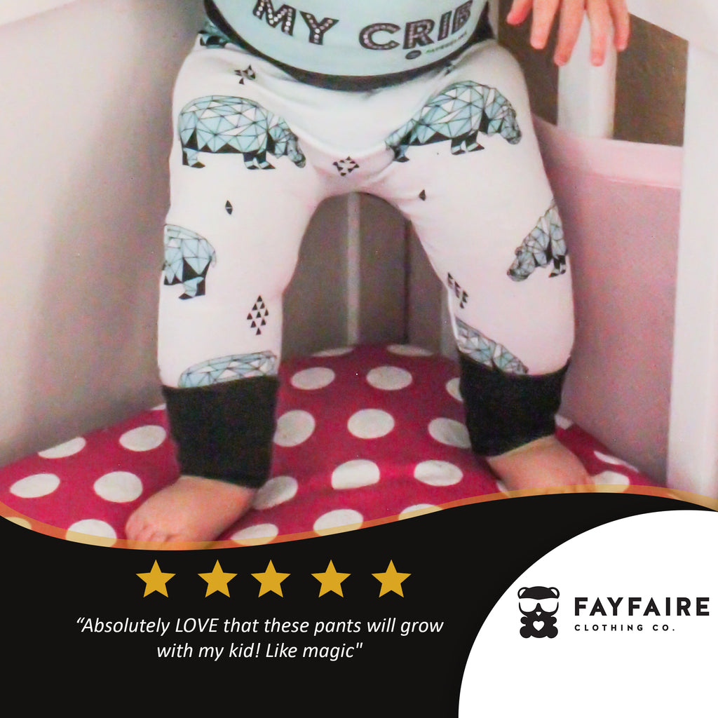 Grow With Me™ Baby & Toddler Pants, Geo Hippo Print
