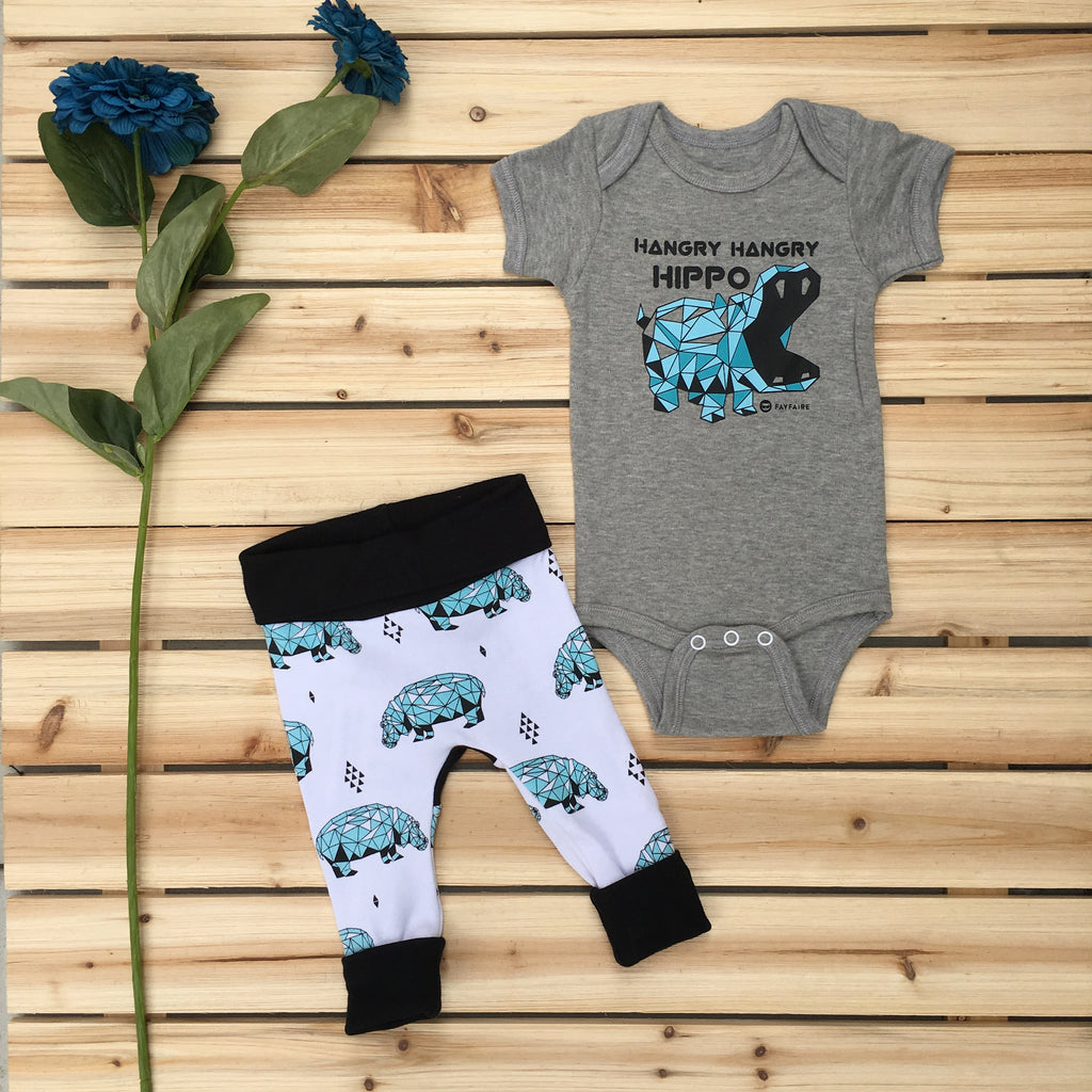 Hangry Hippos Onesie Outfit