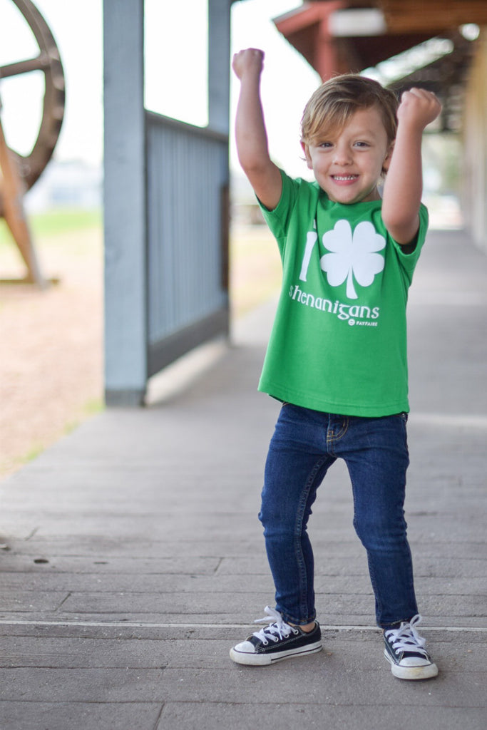 Shenanigans Green Toddler Tee for St. Patty's Day