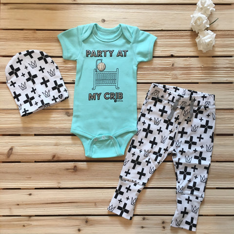 Cross Printed Pants for Babies