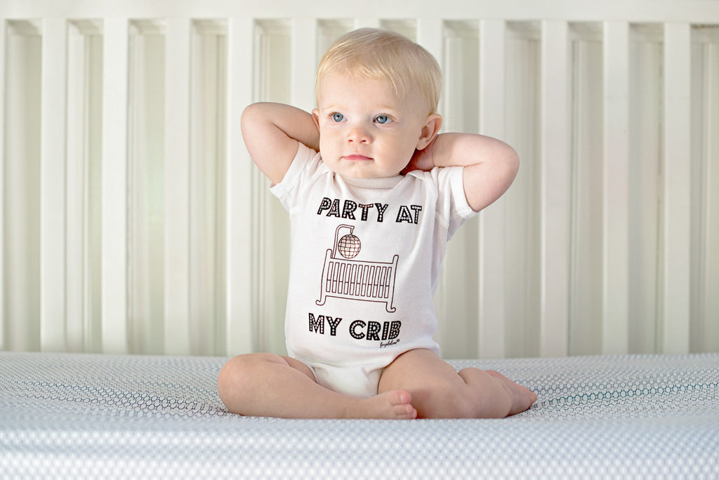 "Baby Onesie - Fayebeline Brand ""Party At My Crib"" Funny Baby Onesie"