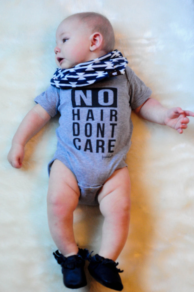 "Baby Onesie - Fayebeline ""No Hair Dont Care"" Funny Baby Onesie"