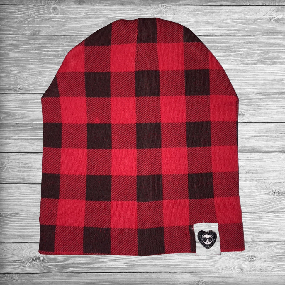 Buffalo Plaid Beanie for Babies and Toddlers