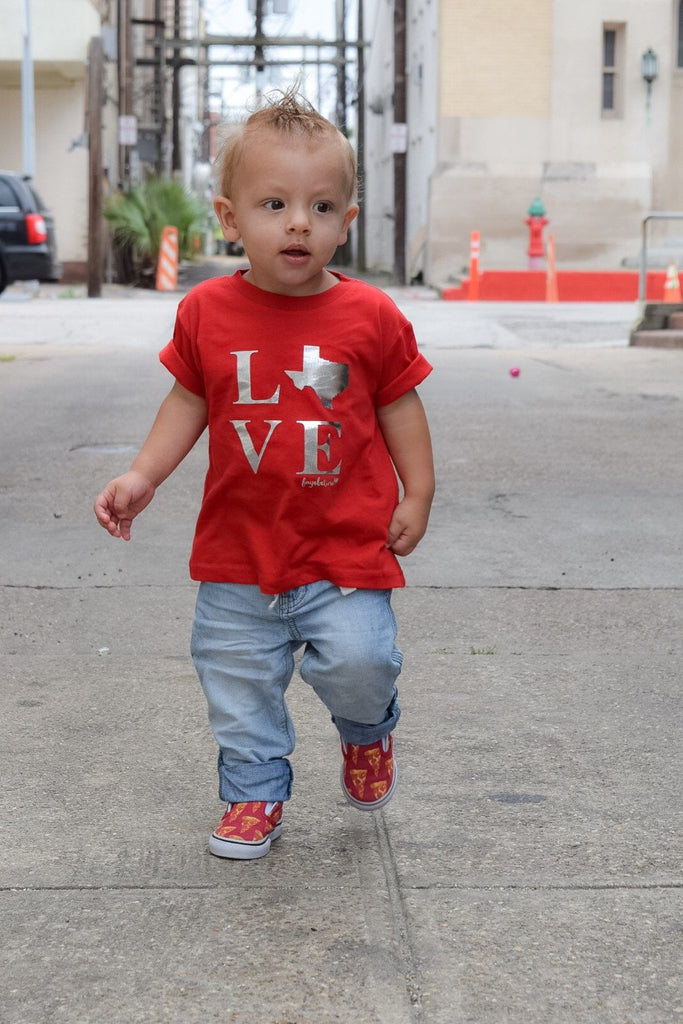 Fayebeline Boutique Quality Gift TX LOVE Premium Toddler T-Shirt, Boy Or Girl