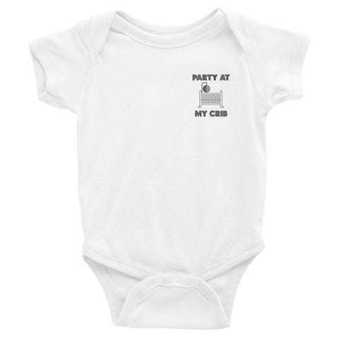 """Party at My Crib"" Toddler T-shirt, Aqua & Silver Foil"