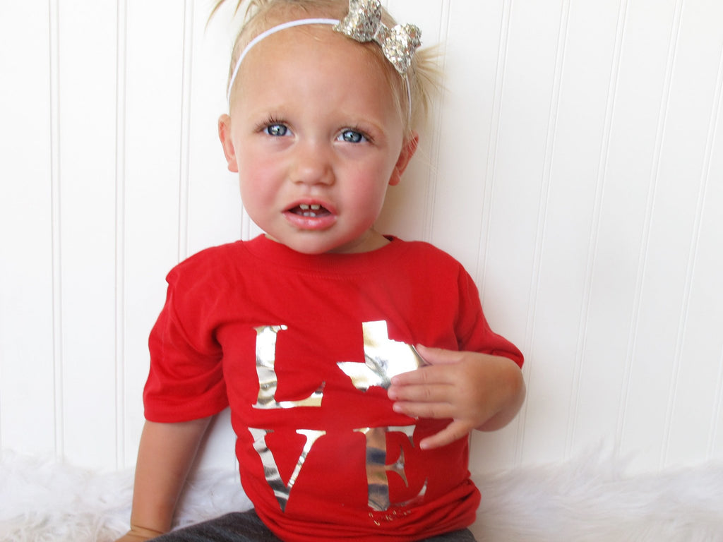 red texas love toddler shirt
