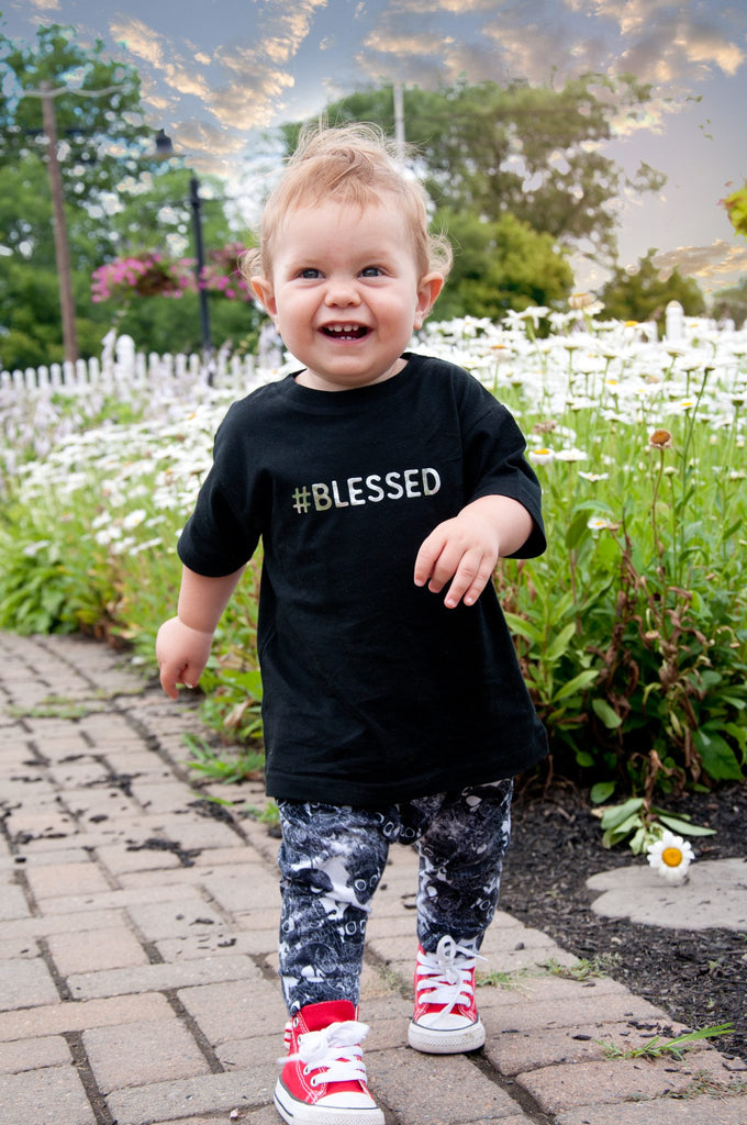 #blessed t-shirt by fayebeline in black