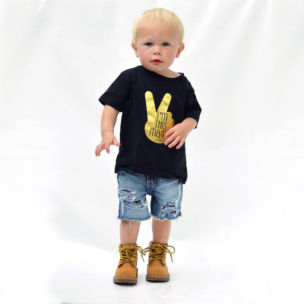 Trendy Unique Im This Many Two Year Old Birthday Toddler T Shirt
