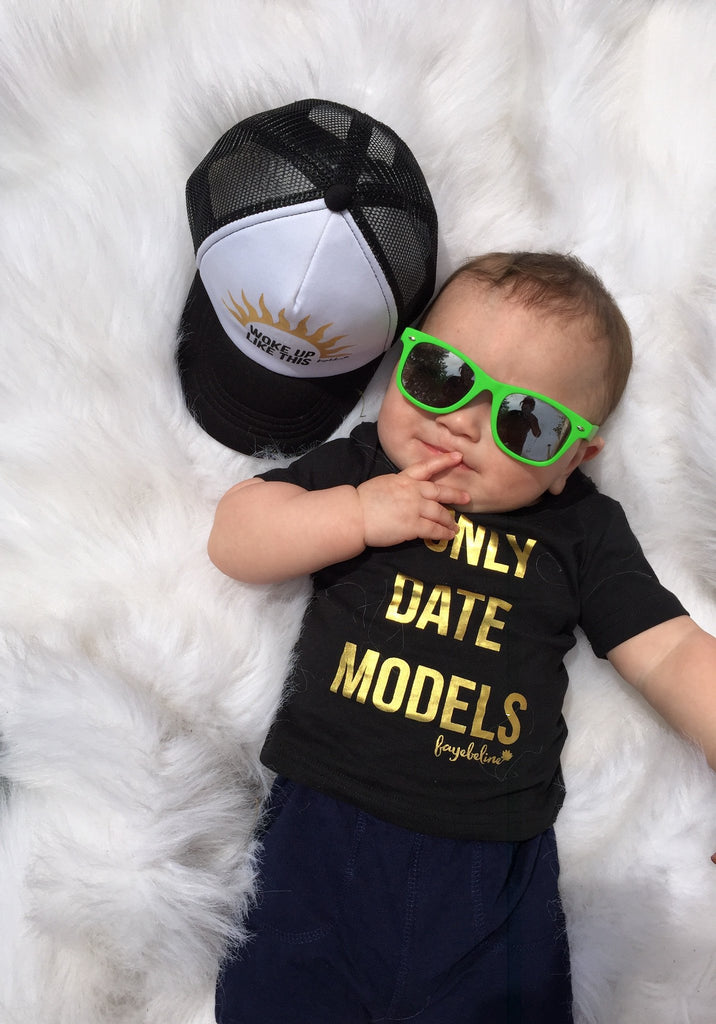 I Only Date Models t-shirt on baby