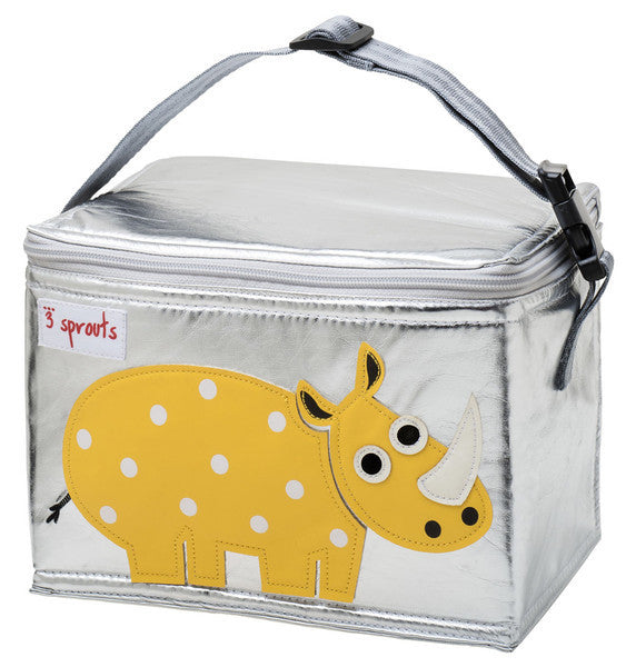 3 Sprouts Lunch Box Yellow Rhino