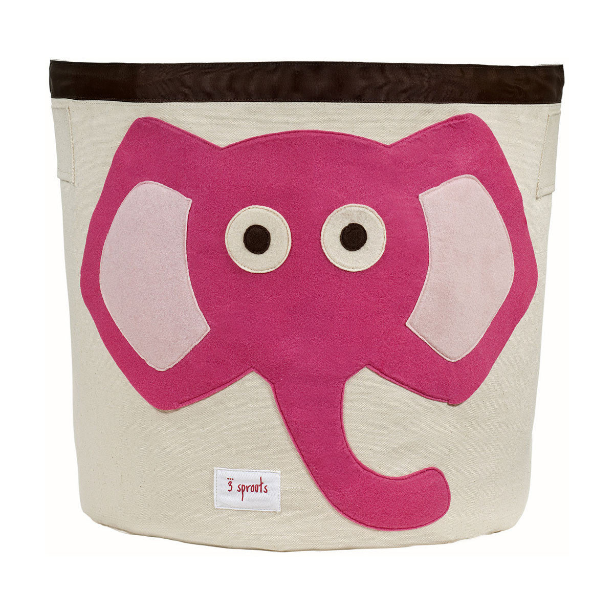 3 Sprouts Storage Bin Pink Elephant - DarlingBaby