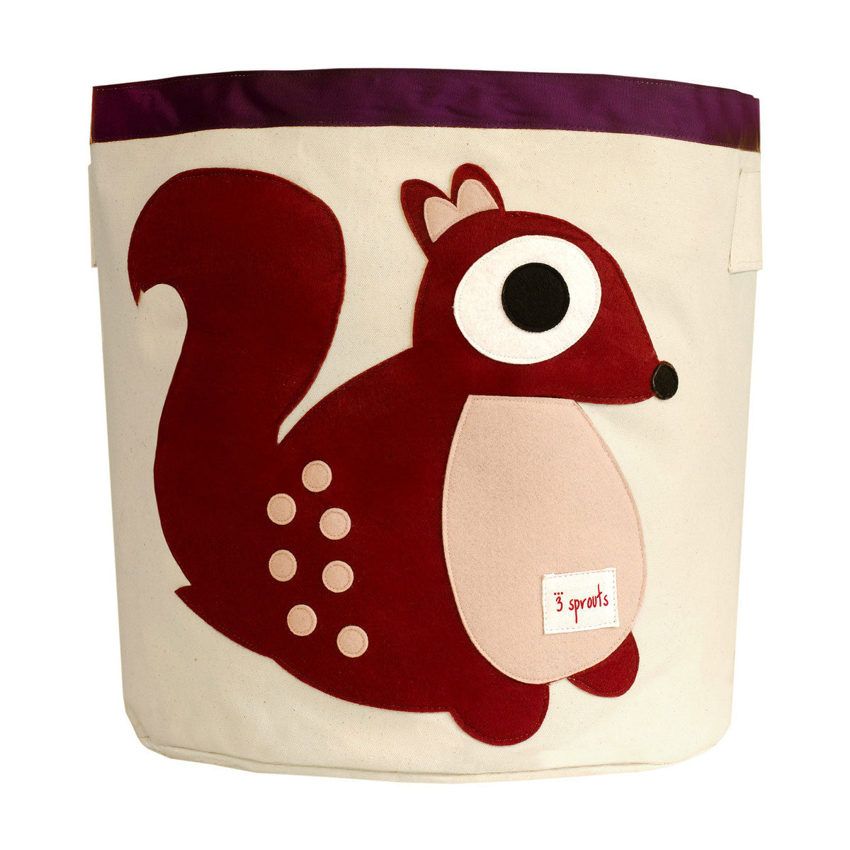 3 Sprouts Storage Bin Berry Squirrel - DarlingBaby