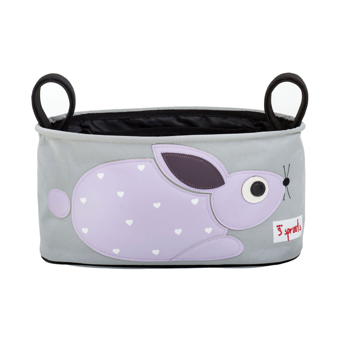 3 Sprouts Stroller Organiser Purple Rabbit - DarlingBaby