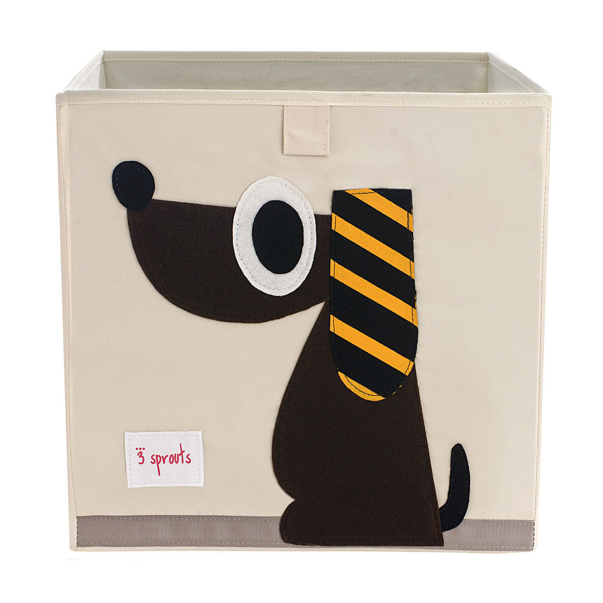 3 Sprouts Storage Box Brown Dog - DarlingBaby