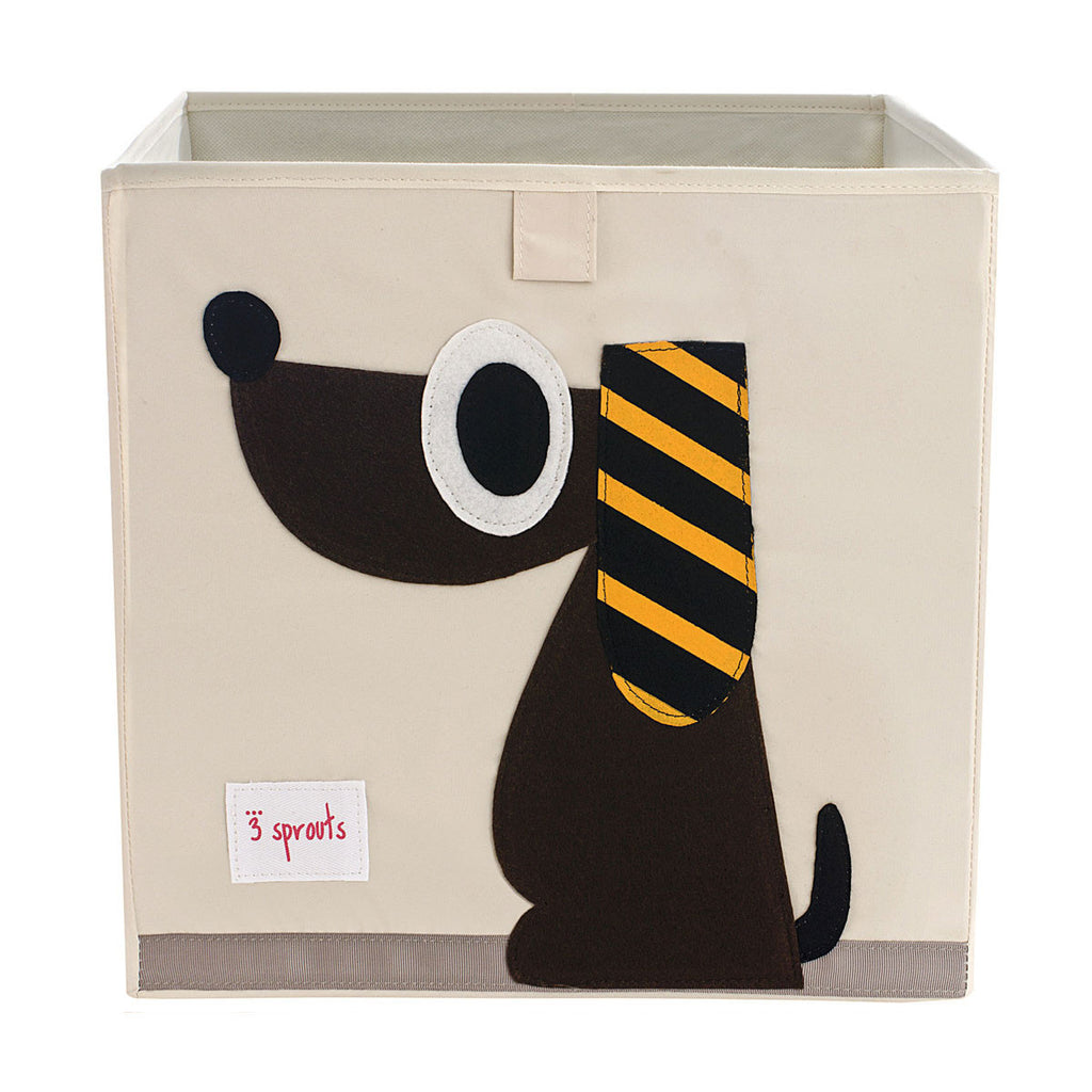 3 Sprouts Storage Box Brown Dog