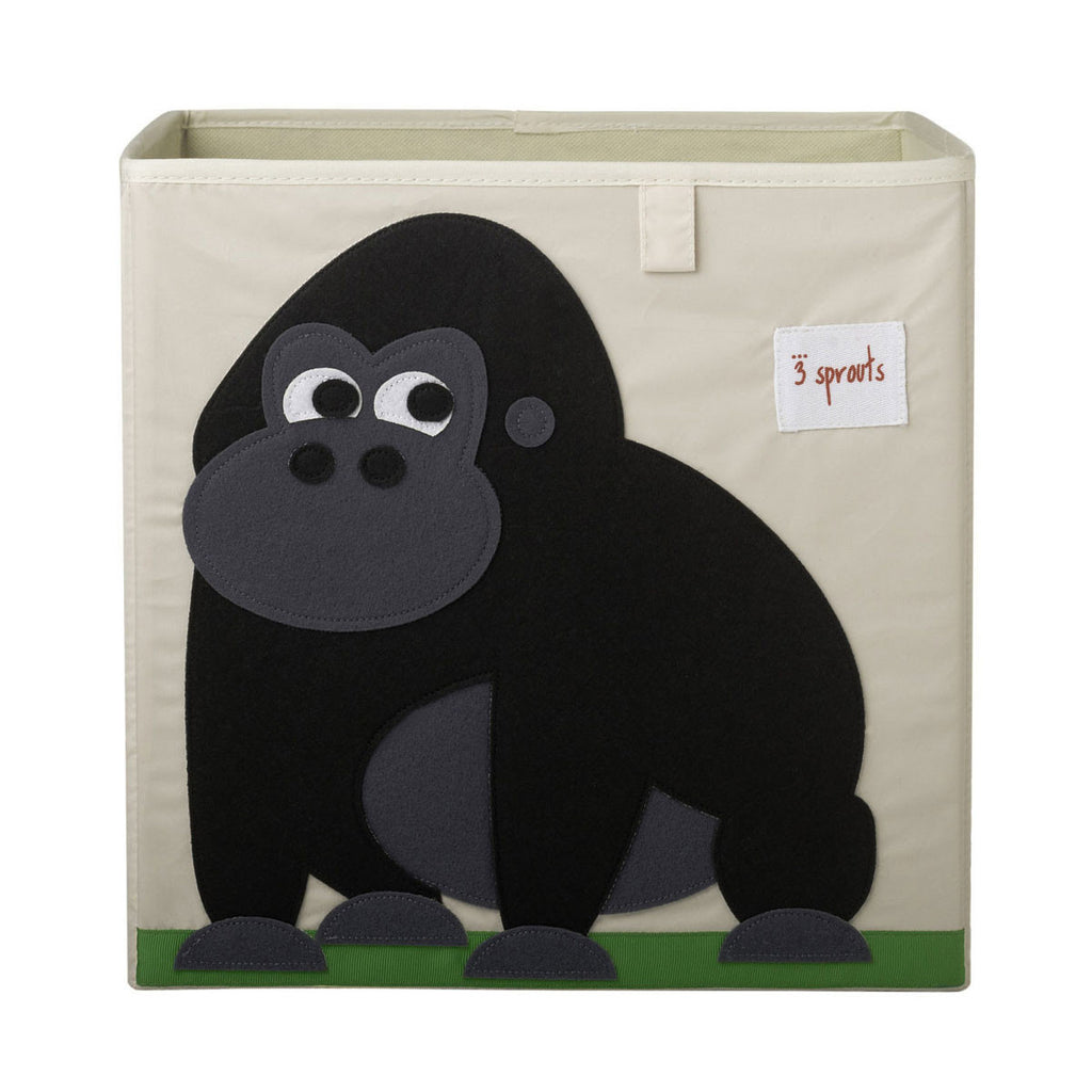 3 Sprouts Storage Box Black Gorilla