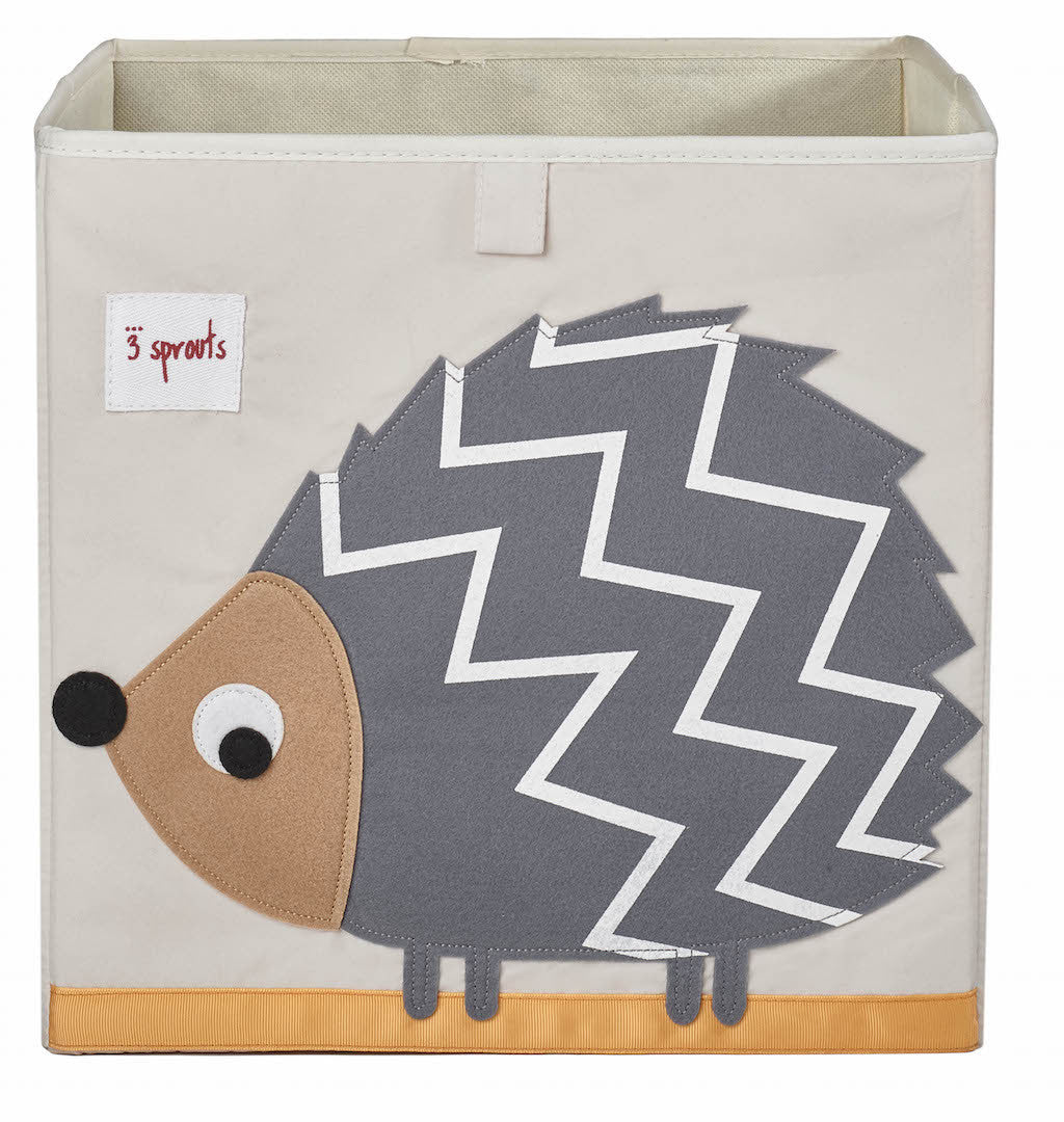 3 Sprouts Storage Box Grey Hedge Hog ** NEW ** - DarlingBaby
