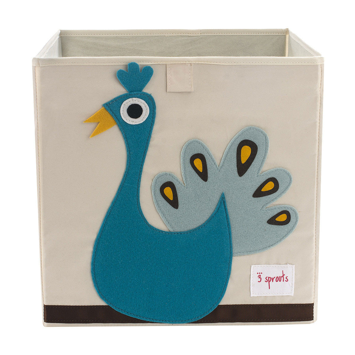 3 Sprouts Storage Box Blue Peacock - DarlingBaby