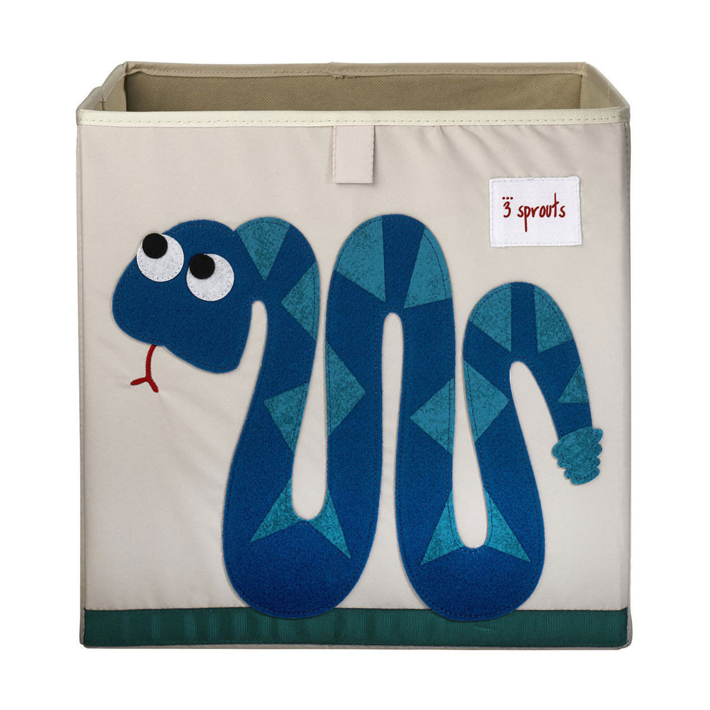 3 Sprouts Storage Box Blue Snake