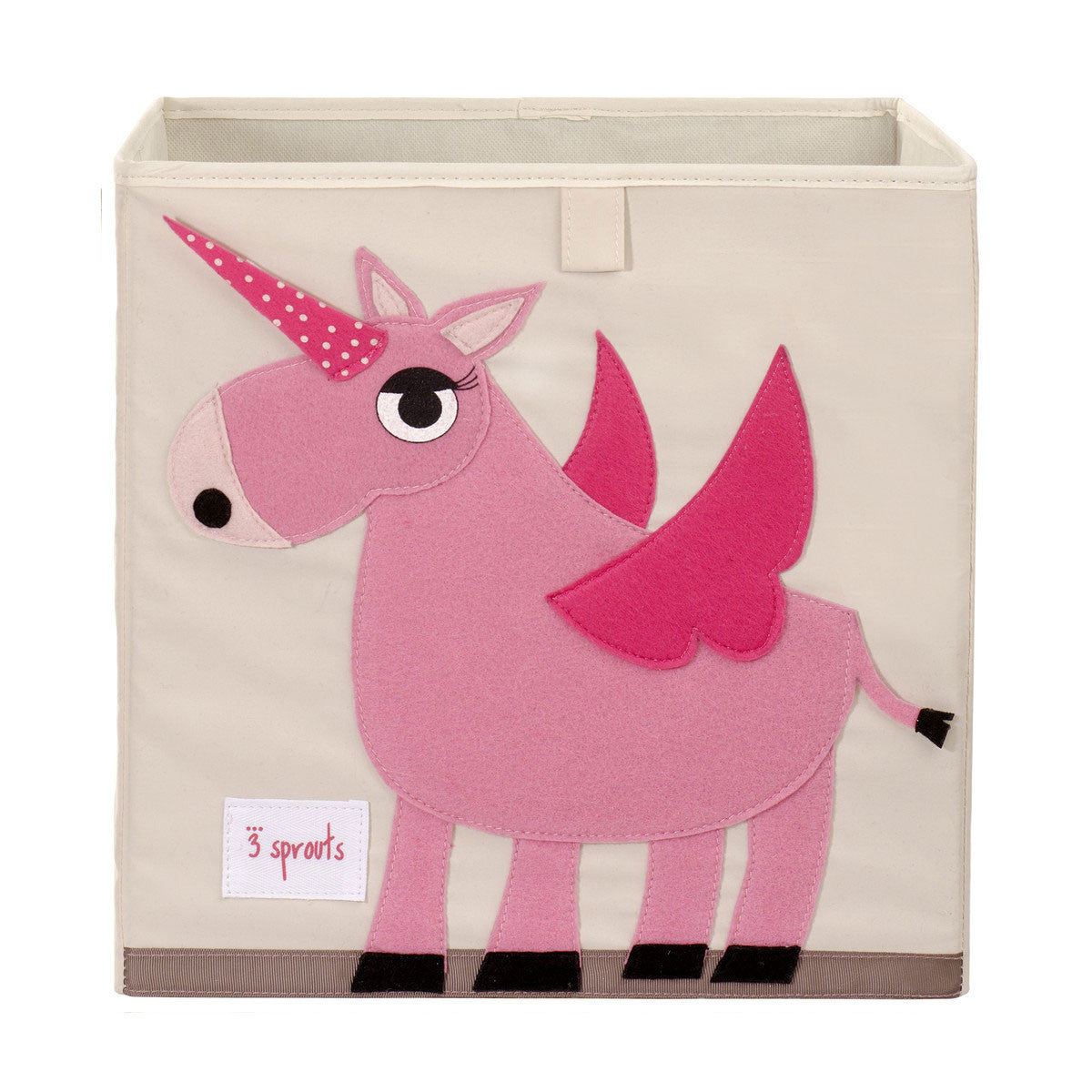 3 Sprouts Storage Box Pink Unicorn - DarlingBaby