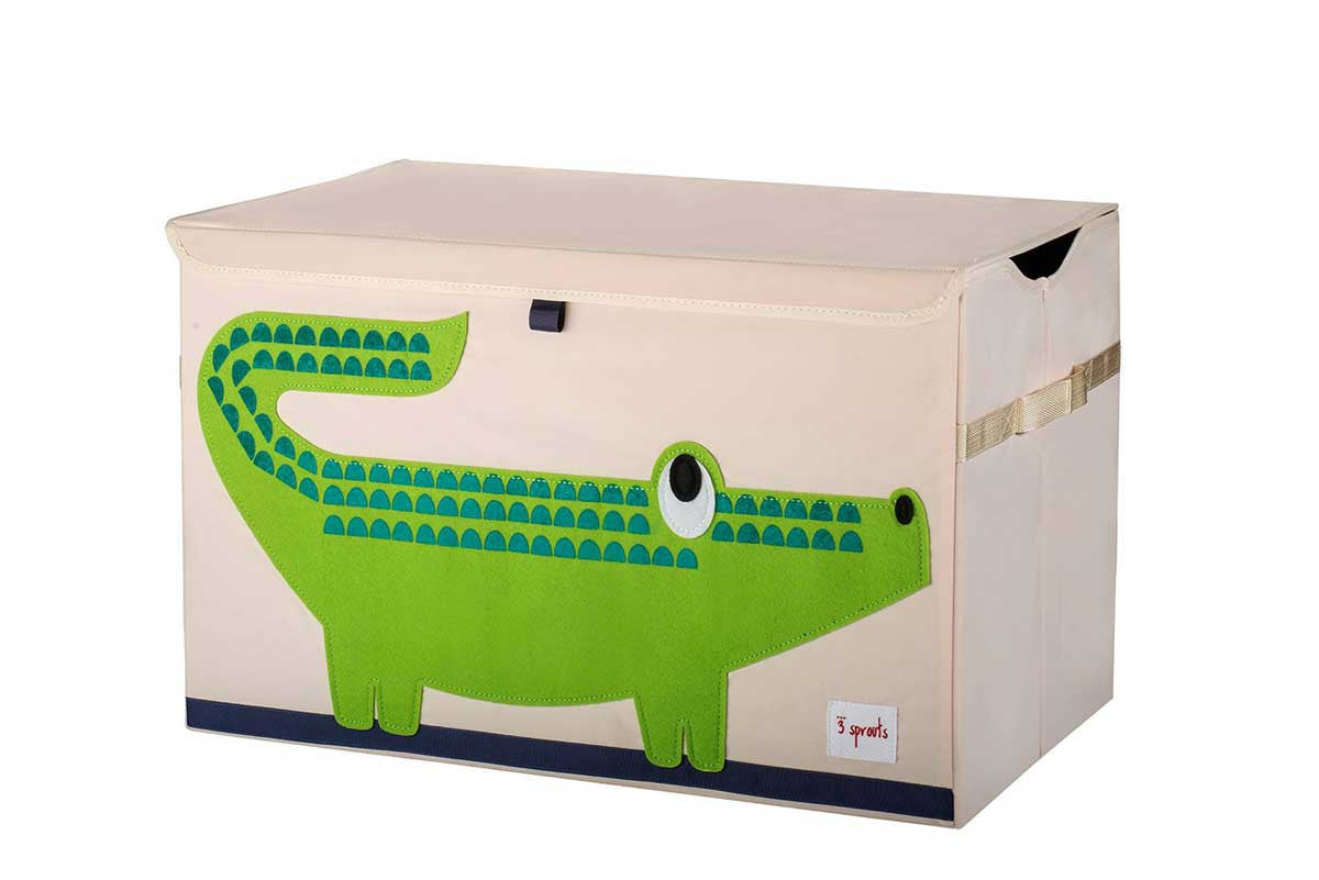 3 Sprouts Toy Chest Green Crocodile - DarlingBaby