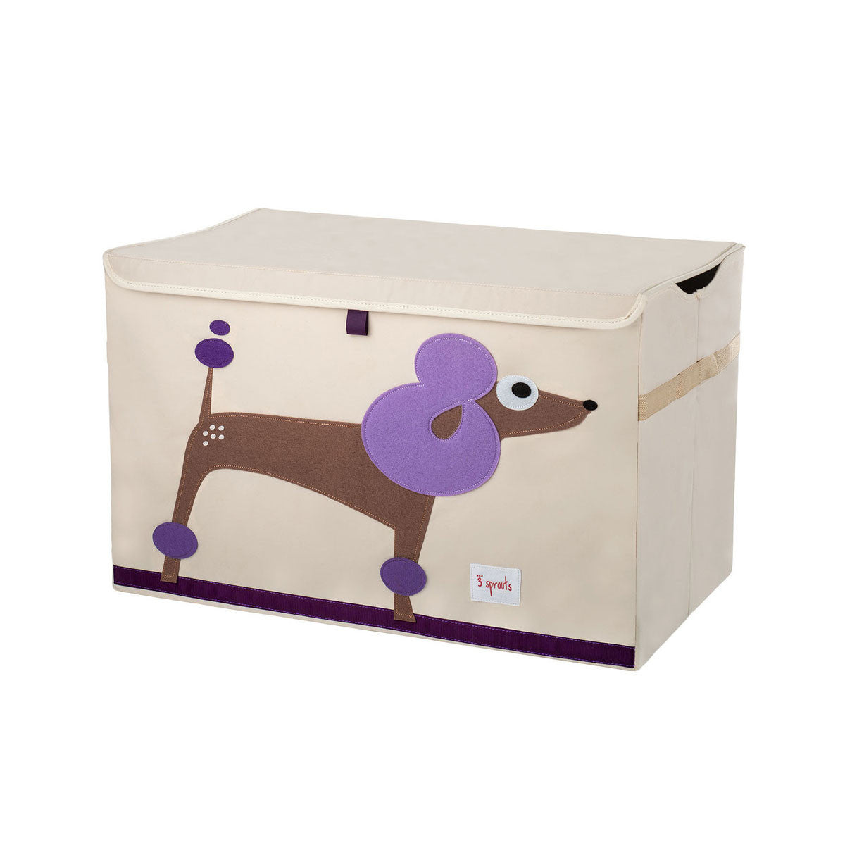 3 Sprouts Toy Chest Purple Poodle - DarlingBaby