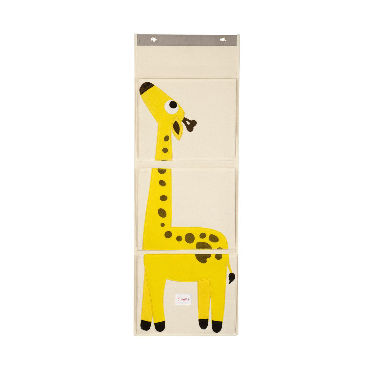 3 Sprouts Wall Organizer Yellow Giraffe - DarlingBaby