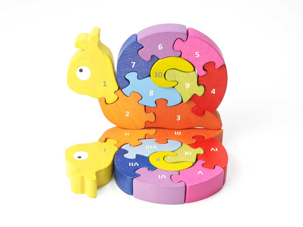 Begin Again - Number 1 - 10 Snail Puzzle