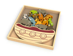 Begin Again - 15 Pce Balance Boat Endangered Animals - DarlingBaby