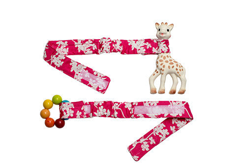Babychic Pram Toy Straps (Set of 2) Cherry Blossom