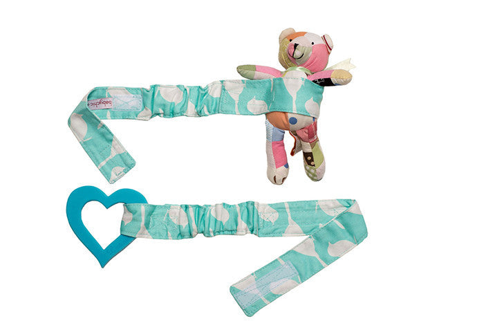 Babychic Pram Toy Straps (Set of 2) Blue Bird