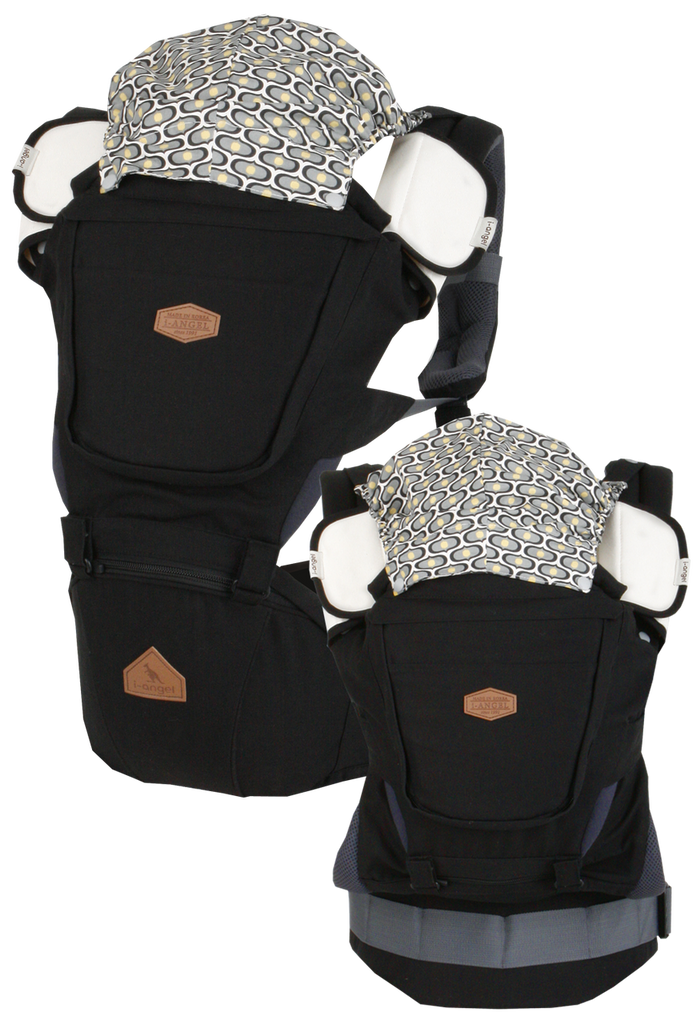 i-angel Baby Carriers Hipseat Rainbow 3in1 Black