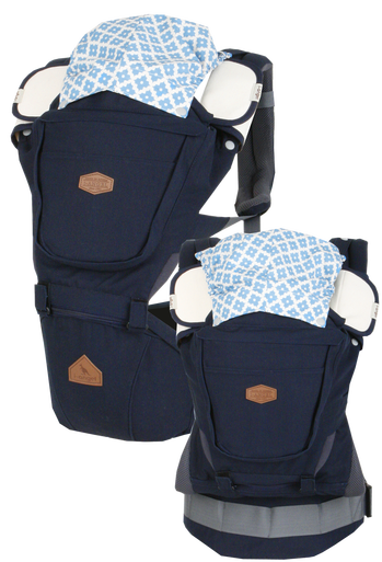 i-angel Baby Carriers Hipseat Rainbow 3in1 Navy