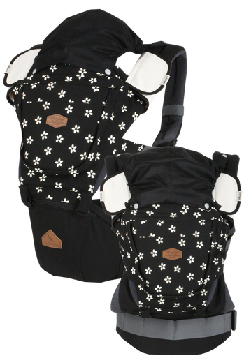 i-angel Baby Carriers Hipseat Rainbow 3in1 Floral Black