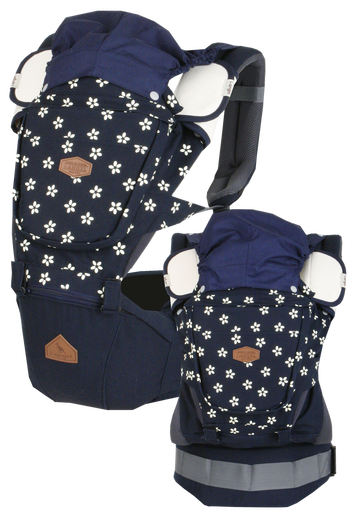 i-angel Baby Carriers Hipseat Rainbow 3in1 Floral Navy