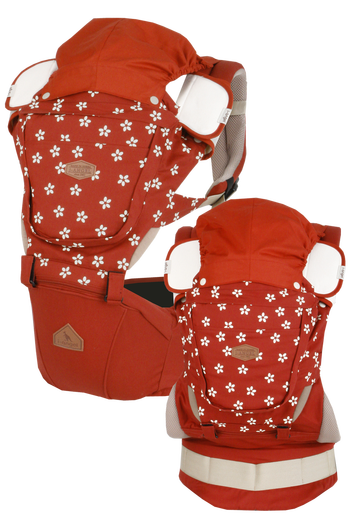 i-angel Baby Carriers Hipseat Rainbow 3in1 Floral Orange