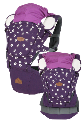 i-angel Baby Carriers Hipseat Rainbow 3in1 Floral Violet