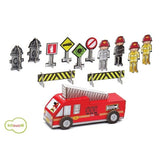 Krooom Dylan playset - Fire Station theme playset