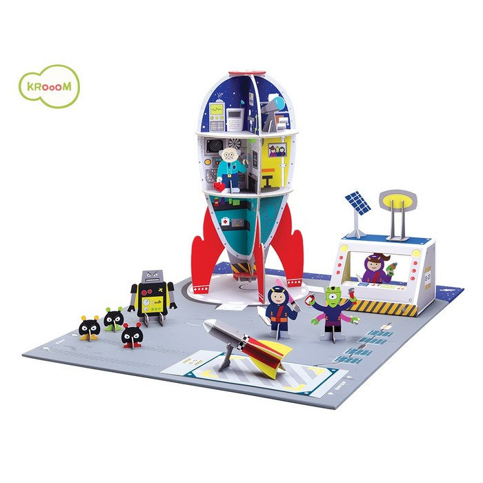 Krooom Galactic Police - Space Station theme playset
