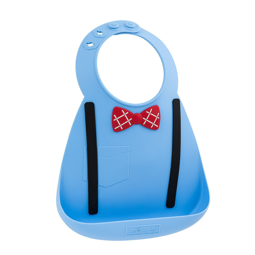 Make My Day - baby bib - Scholar Blue