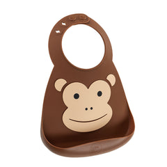 Make My Day  - baby bib - Monkey