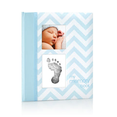 Pearhead Baby Book Chevron Blue
